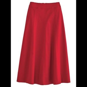 CATO Diagonal Skirt Red Large